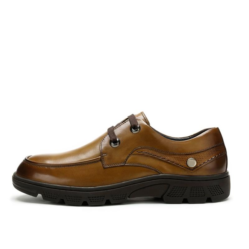 Formal Casuais Negócios Vestido Casamento Homens Britânica 2018 Básicos Sapatas brown Vestindo Black Couro Suave Baixos De Sapatos Dos Walkerpeak 8Zwzqtvw