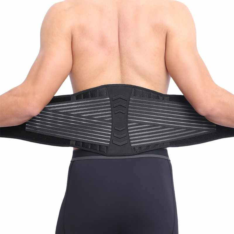 e70bf065449 2018 New Neoprene Double Pull Lumbar Adjustable Support Lower Back Belt  Brace Pain Relief Sports Protection