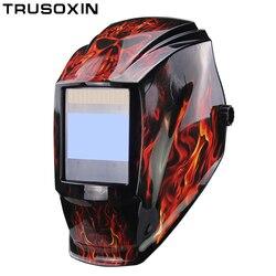 Rechangeable <font><b>Battery</b></font> 4 Arc Sensor Big View Solar Auto Darkening/Shading Grinding/Polish Welding Helmet/Welder Goggles/Mask/Cap
