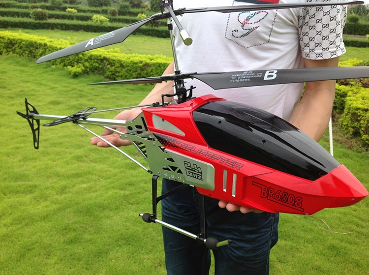 Hot Sale super Big 130CM 2.4G 3.5CH rc Profession Quadcopter drone Double Blade RC Helicopter With Camera Best Gift Toy image