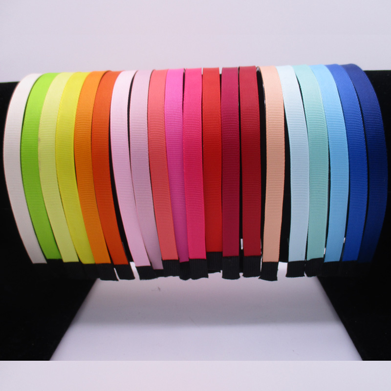 50pcs 10MM DIY Plastic hairband Ribbon Covered Headbands With Teeth Fabric Cover Resin Headband For Girls Woman Hair Accessories high quality abs 10mm black white plain lady plastic headband no teeth diy resin headband hair accessories headwear