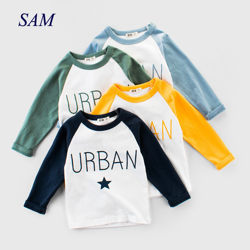 Top Kids Bottoming-Shirt Letter Spring Long-Sleeve Baby-Boys Autumn Children's Cotton