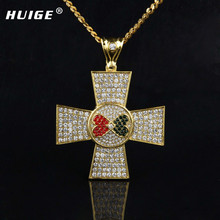 Fashion Jewelry Forever Love With Clear Cz Simulated Diamonds Cross Charming Pendant Free Cuban Chain Men Women Gift  Jewelry