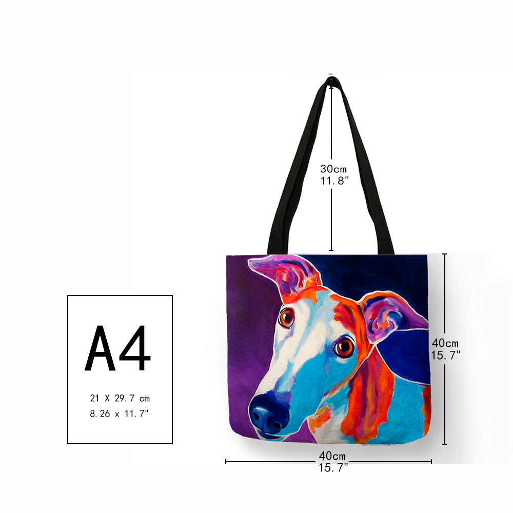 Персонализированная картина маслом собака породы борзая «ТОТЕ» с принтами сумка прочная сумка для шоппинга дорожные спортивные сумки для женщин и мужчин повседневная сумка