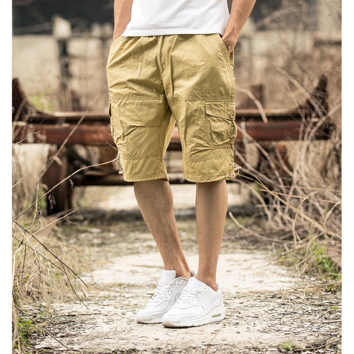 New coolMens twill Cargo Combat Trousers Pocket Camo Work Military Army shorts Men cloth ...