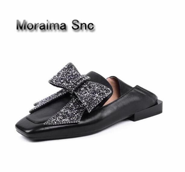 Здесь продается  Moraima Snc brand women shoes sliver crystal butterfly-knot fltas women square toe casual shoes girls high quality Low price  Обувь
