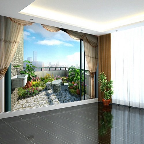Expanded Space Balcony Mural Wallpaper Scenery Full Wall Murals Print  Decals Home Decor Photo Wallpaper ...