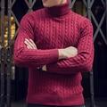 Invierno de Los Hombres Suéteres y Jerseys de Cuello Alto Suéter de Punto de Algodón Masculino de Hip hop Suéter JT64