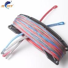 СВМПЭ волокна 4 линии(1 красный в 400 кг, 1 синий в 400 кг, 2 серый в 400 кг) x 25 м кайтсерфинга линия набор конец петля