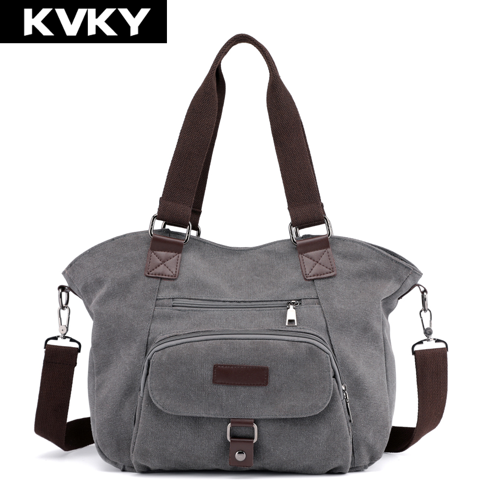 Canvas Hobos Handbags  Female Messenger Bags Lady Shoulder Crossbody Bag Casual Big Tote Bolsas