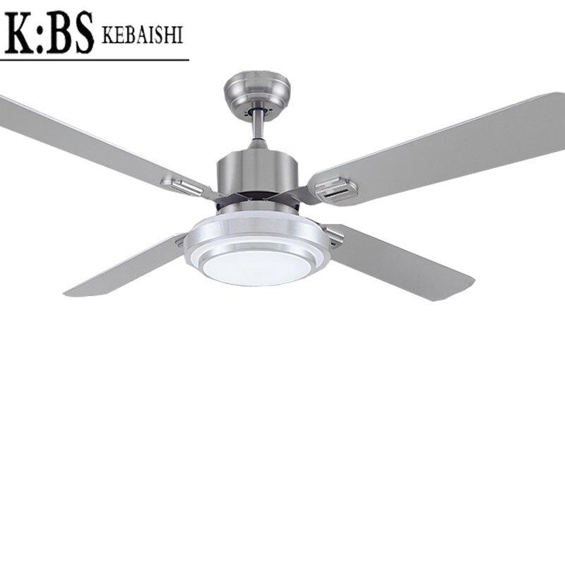 LED Lighted Restaurant Bedroom Ceiling Fan Lights Simple