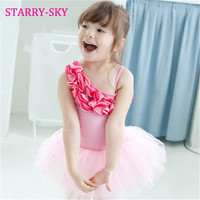 New Ballet Dress For Girl Dance Clothing Kids Ballett Tutu Pink Costume Cotton Ballerina Dresses Leotard Dancewear Ballet