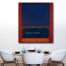 Large Size Blue Orange Red by Mark Rothko Oil Painting Wall Art Picture Canvas painting art Home Decor oil