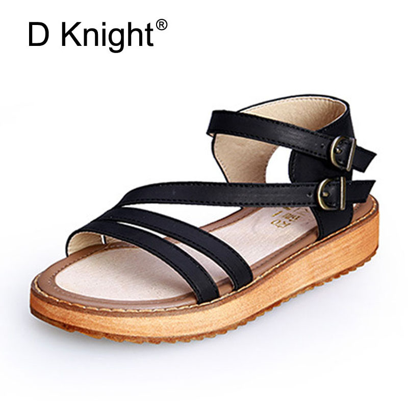 Big Size 34-45 Genuine Leather Shoes Woman Causal Platform Shoes Women Shoes Sanglaide 2.8CM High-Heeled Gladiator Sandals Women