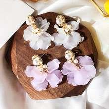 Серьги подвески в богемном стиле с лепестками цветов для женщин