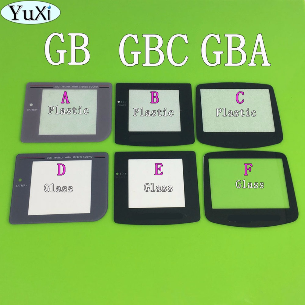 YuXi Plastic Glass Lens for GBC GBA GB Screen Glass Lens for Gameboy Advance Color Lens Protector W/ Adhensive glass lens for flashlights 18mm 10 pack
