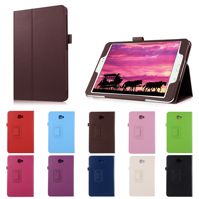 New Folding Stand PU Leather Cases Cover For Samsung Galaxy Tab A 10.1 2016 T580N -fly DJA99