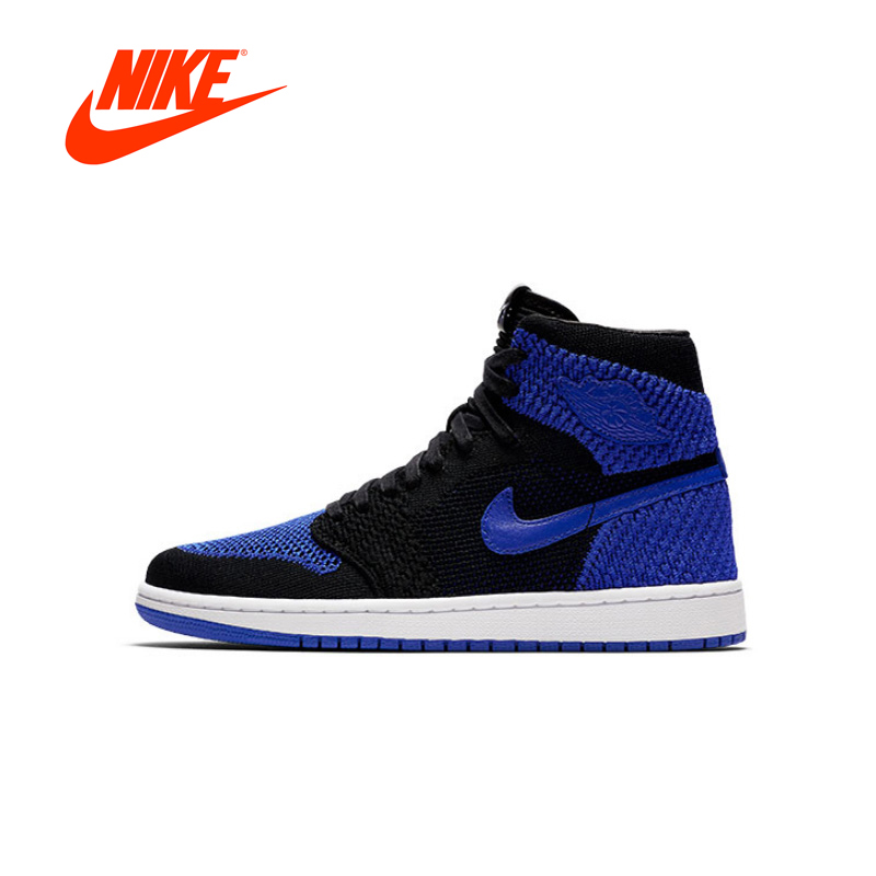 купить Original New Arrival Authentic Nike Air Jordan 1 Retro Hi Flyknit AJ1 Men's Basketball Shoes Sport Outdoor Sneakers 919704-006 по цене 6901.07 рублей