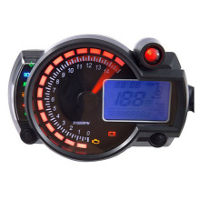 цены Adjustable Motorcycle Speedometer Instruments Digital Speedometer LCD Digital Odometer with Speed Sensor for Motorbike