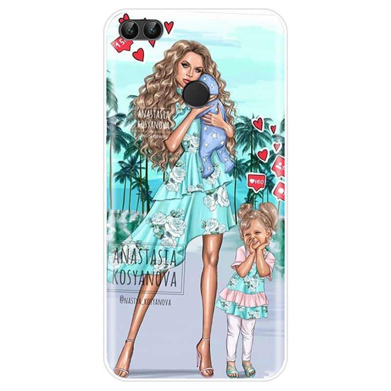 חום שיער תינוק אמא ילדה מלכת עבור Huawei P9 P10 P20 בתוספת P20 P30 פרו P8 P9 P10 P20 P30 לייט P חכם כיסוי TPU מקרה טלפון