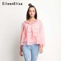 Высокая Низкая блузка Street Стиль Повседневное Модные Топы с длинным рукавом блузки рубашки Для женщин 2018 Новый