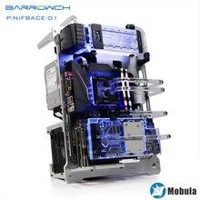 Barrowch silver Mobula modular computer case verticle compatible E-ATX/ATX/M-ATX/ITX MINI DESIGN Aluminum material gpu block цена