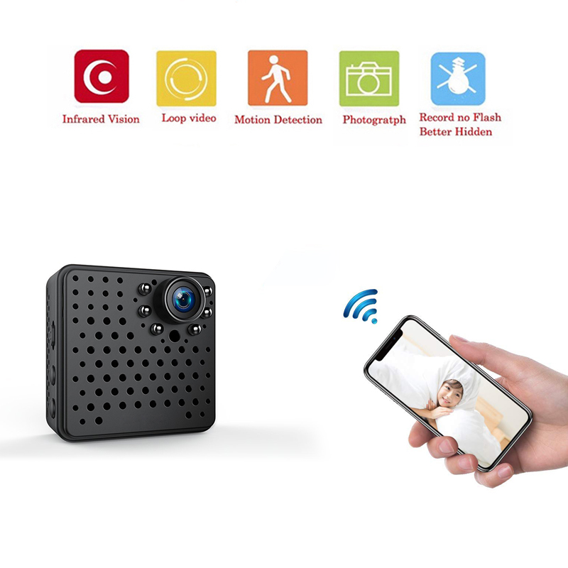 Mini Camera Wifi IP with Motion Sensor1080P Mini Camera Wifi HD Night Vision for iphone Android Video Security Magnetic Clip CAM image