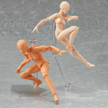 14.5cm Art Action Figure Toys Body Accessory Doll Figma Archetype Male and Female Flesh Color Version Limited