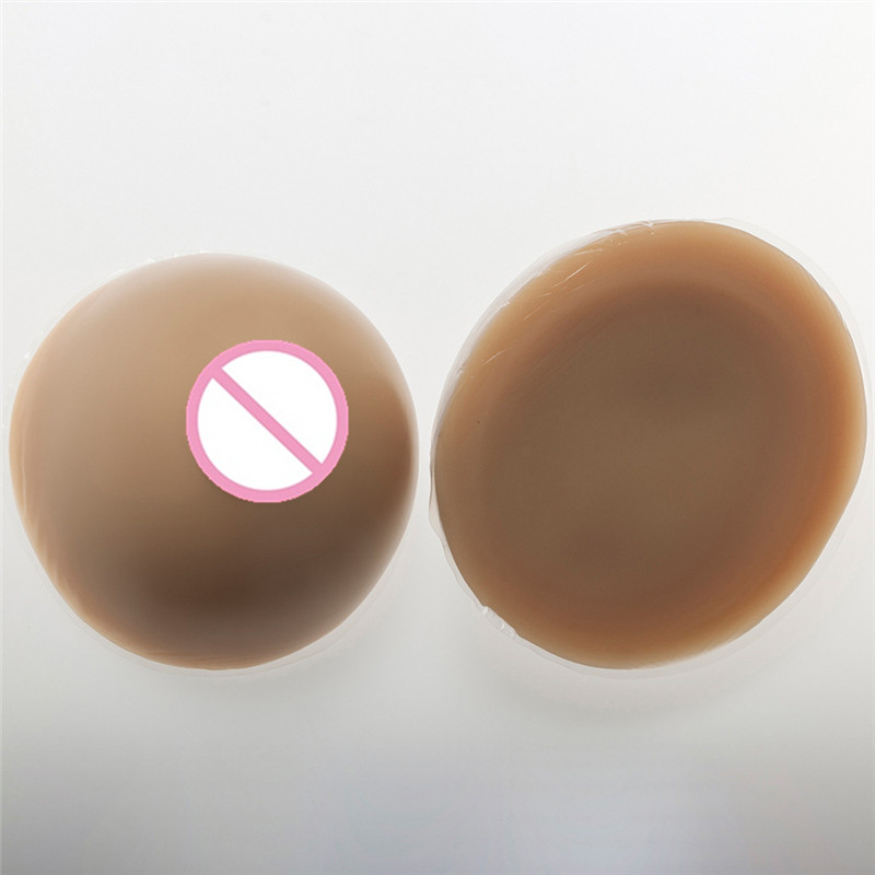 2000g/pair Cross Dresser Silicone Breast Forms Enhancer Cup FF Circular False Boobs Transgender Fake Breast Brown шапка носок les ff fold brown