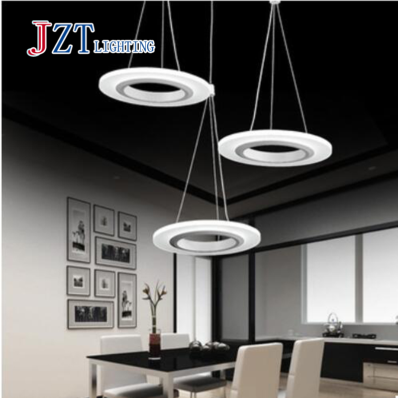 T Simple artistical Pendant Light With LED Chips Fish WireAcylic lamp For Dining Room Bar Ring Shape For Office Best Pices fish and chips