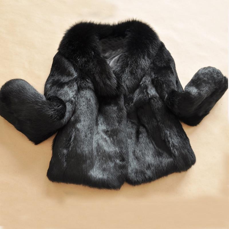 Pleine Black Gros Magasins Peau Veste En D'usine Avec Véritable De Naturel Marque Manteau Fourrure Col 100 Wsr30 Lapin 2018 Renard TwpqEE