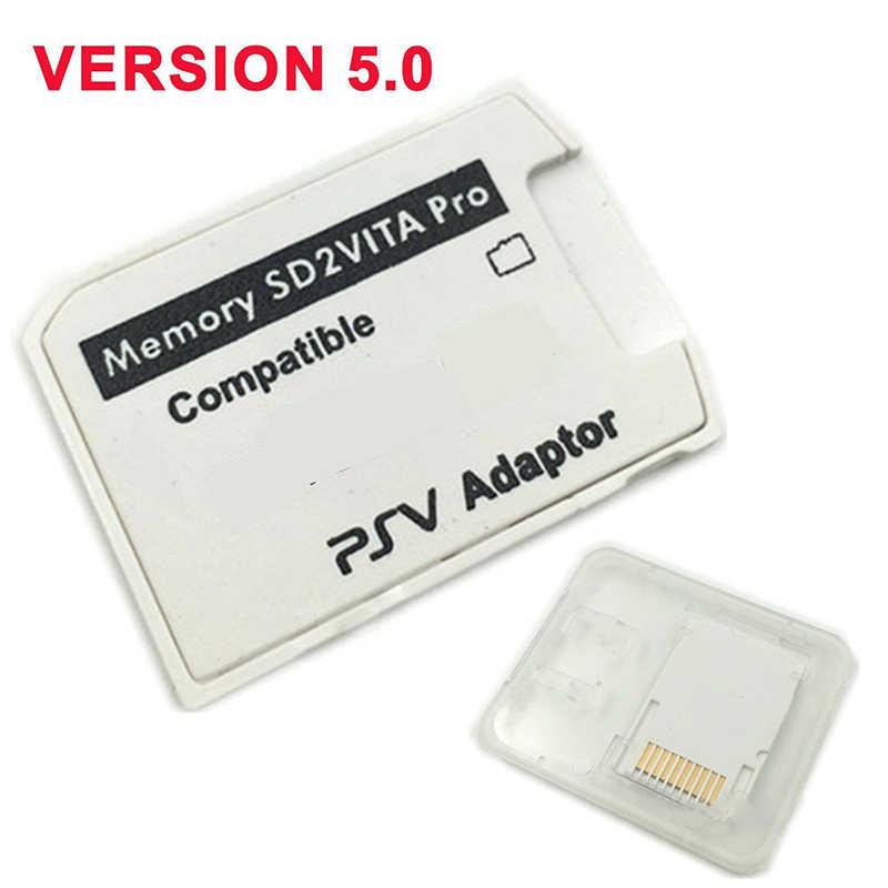 Eastvita 5.0 sd2vita para psvita cartão de jogo psv 1000/2000 adaptador 3.60 sistema sd cartão micro sd para ps vita memória tf cartão r29
