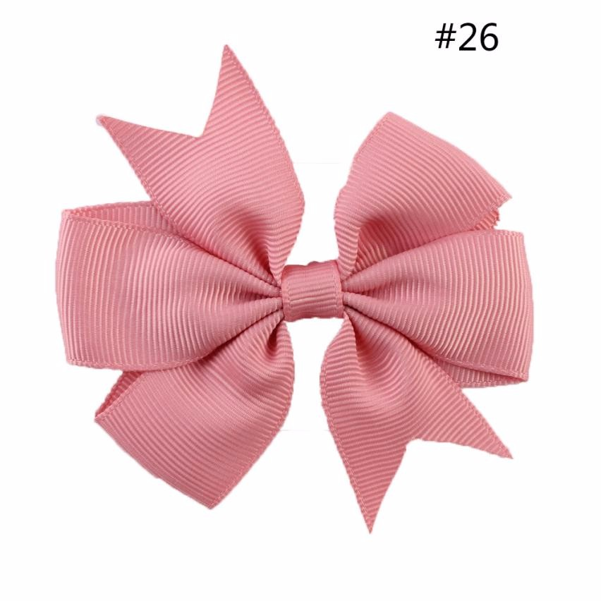 Girl Grosgrain Ribbon Boutique Hairpins Hair bows With Alligator Clips Pinwheel Bow For Children kids hairbow Accessorie #7-8