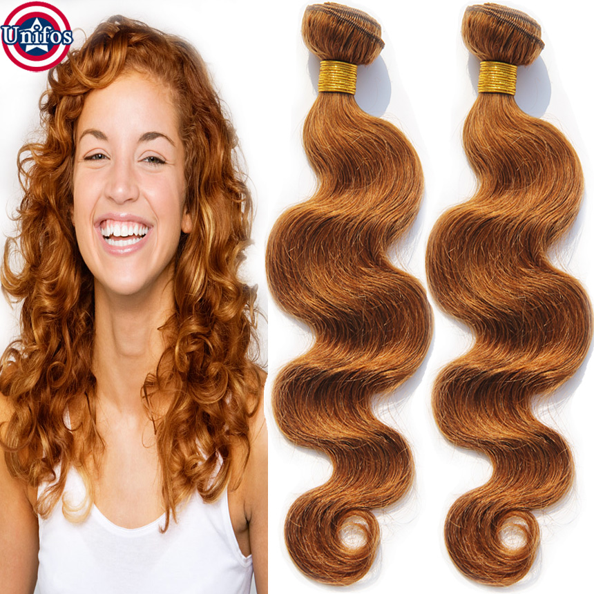 Peruvian Body Wave Virgin Hair Colour 30 Medium Auburn