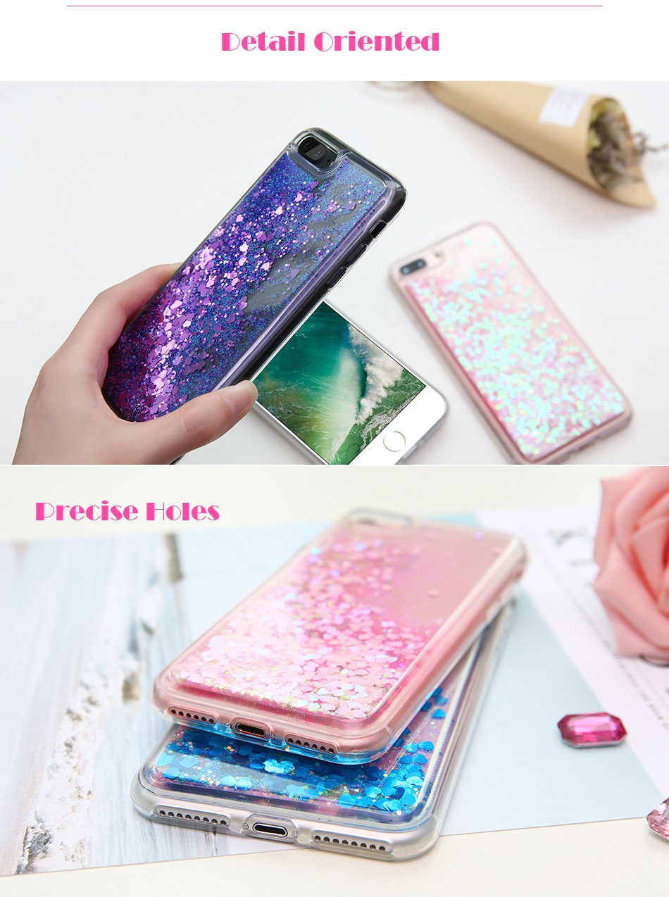 Glitter Quicksand Cover For iPhone 7 Plus For iPhone 6 6S Plus 5 5S SE Sequin Silicon Phone Cases (5)
