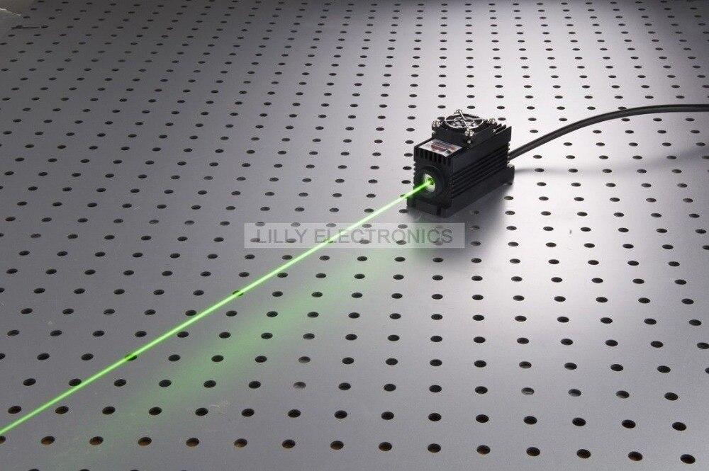 100 mW 532nm Vert Laser Dot Module + TTL/Analogique 0-30 KHZ + TEC De Refroidissement + 85-265 V