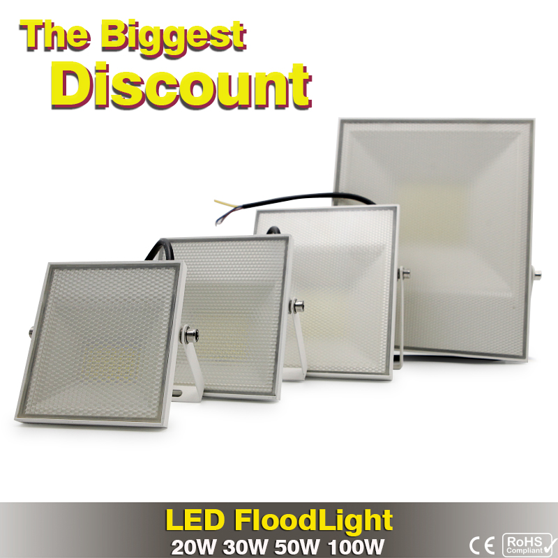 Waterproof IP65 Led Floodlight 100W 50W 30W 20W 220V Led Flood Light Outdoor Lighting Led Spotlight Reflector Garden Spot Lights