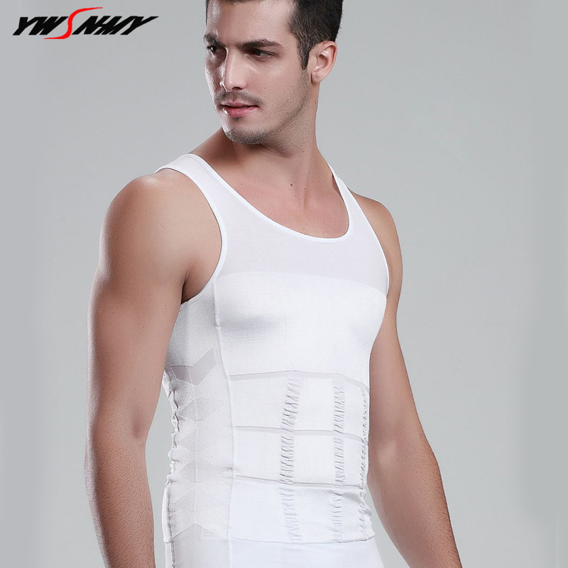 Mens Slimming Body Shaper Tummy Shaper   Tank     Tops   Sleeveless Corset Vest Control Slim Lift Fat Burn Underwear Shirt For Men