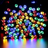 New 22M 200 LED Solar Lamps LED String Fairy Lights Garlands Holiday Garden Christmas Solar Lights