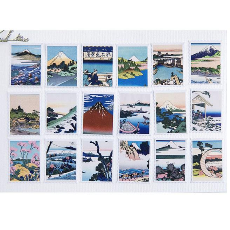 46Pc/box Japanese Wave Mini Paper Sticker Decoration DIY