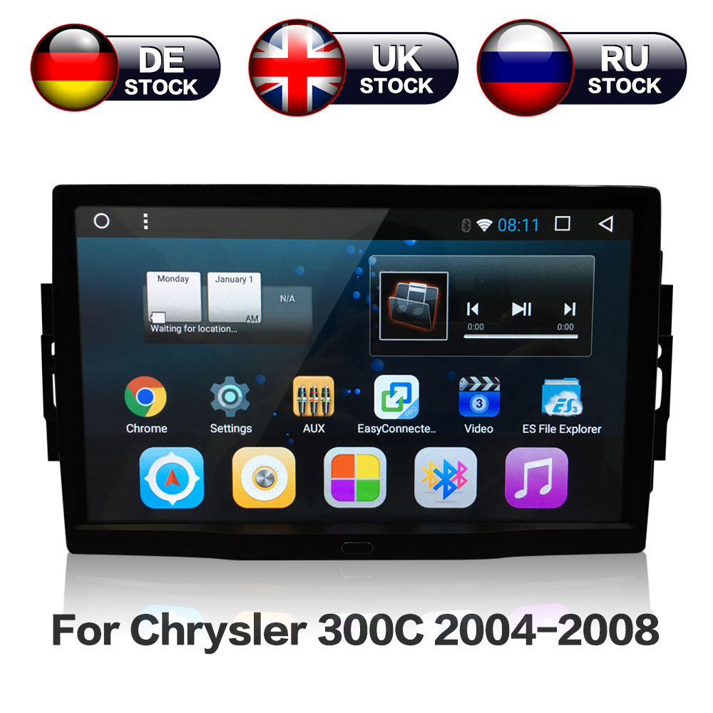 9'' Android 8.1 8 core Car Stereo GPS Navigation Radio For Jeep Grand Cherokee Patriot Dodge Charger Chrysler 300C DVD Player
