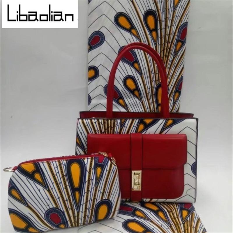 b5609f234ed3 2018 woman handbag african Hollandais wax bag set 100%cotton ankara prints  fabric fatory price for women party dresses F802 12-in Fabric from Home    Garden ...