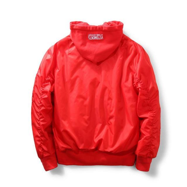 Красный Mianfu капюшоном полета пиджак бейсбол clothing короткая куртка 16 женские зимние