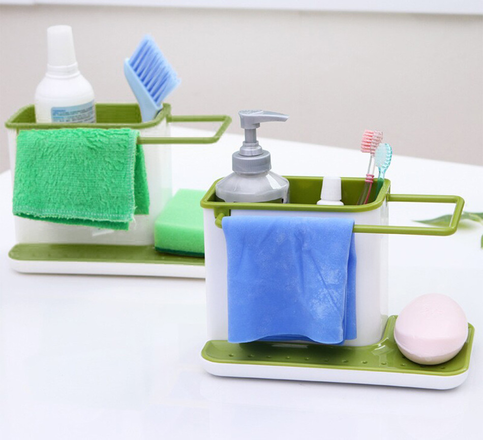 3 in 1 Sink Tidy Cleaning Caddy Bath Accessories Perfect Base ...