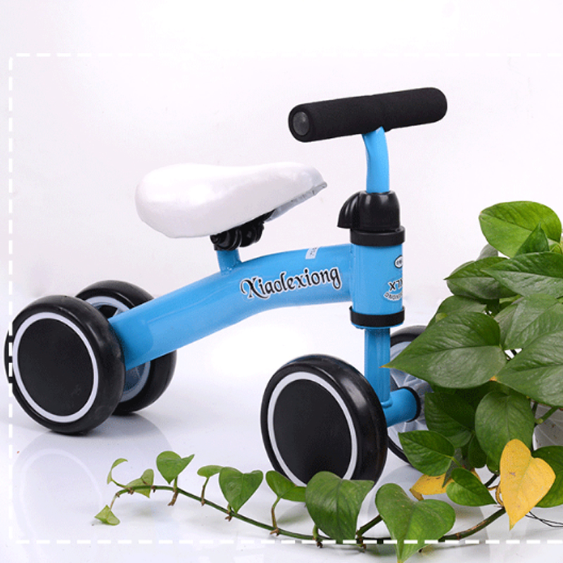 Four-wheel Children's Balance Bike 6 Months - 3years Old Lightweight Portable Kid's Bicycle No Pedal Exercise Balance Bike