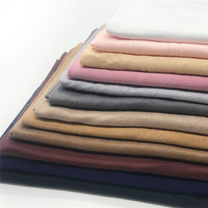 Image 2 - 저지 스카프 여성 솔리드 컬러 탄력 면화 Shawls 우아한 겸손 이슬람 Hijab 스카프 대형 양질 스카프 목도리
