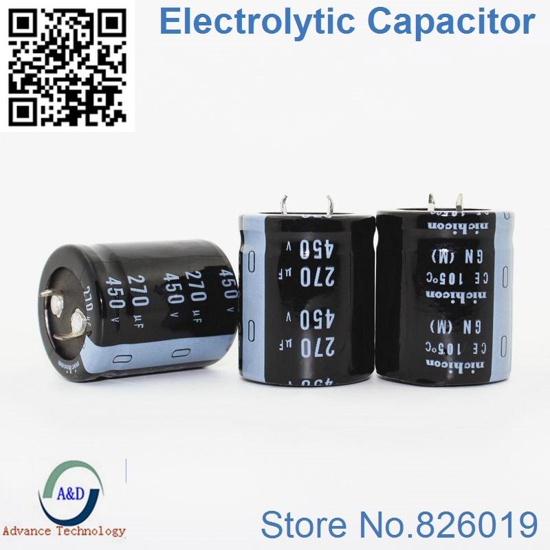 1pcs/lot 450v 270uf Radial DIP Aluminum Electrolytic Capacitors Size 30*35 270uf 450v Tolerance 20%