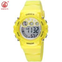 New 2016 OHSEN Electronic Led Digital Watch Hour Clock Cartoon Children Watch Boys Girls Outdoor Sport