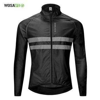 Wosawe jaqueta de ciclismo alta visibilidade, multifuncional jérsei estrada mtb bicicleta corta-vento de secagem rápida casaco de chuva 1