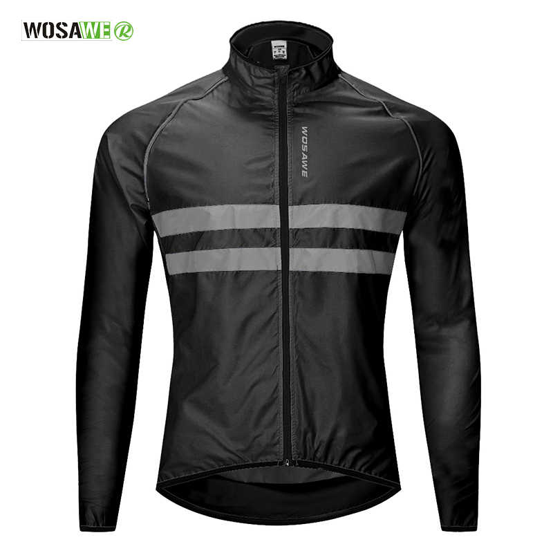 WOSAWE Cycling Jacket High Visibility MultiFunction Jersey Road MTB Bike Bicycle Windproof Quick Dry Rain Coat Windbreaker